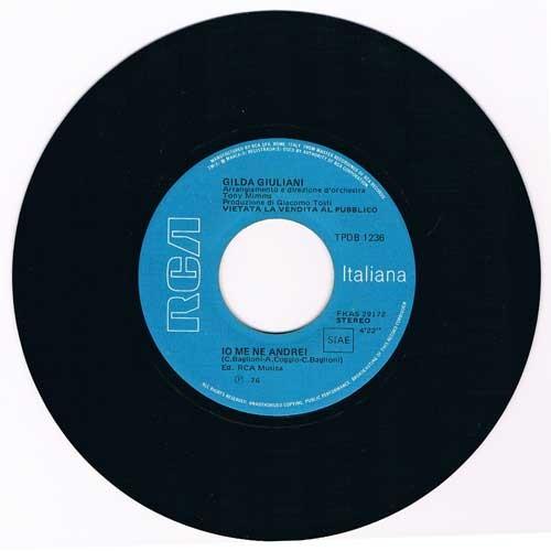 Gilda Giuliani / Riccardo Cocciante – Io Me Ne Andrei / Margherita (Juke Box)